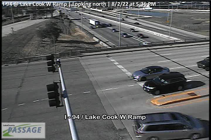 camera snapshot for I-94 at Lake Cook W Ramp