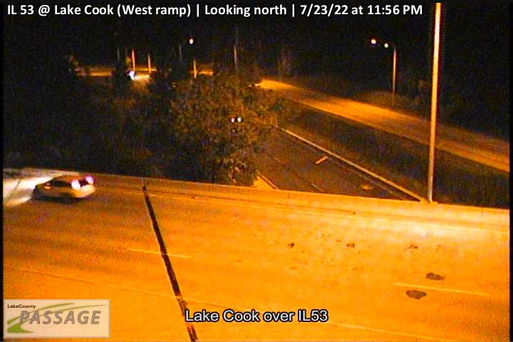 camera snapshot for IL 53 at Lake Cook (West ramp)