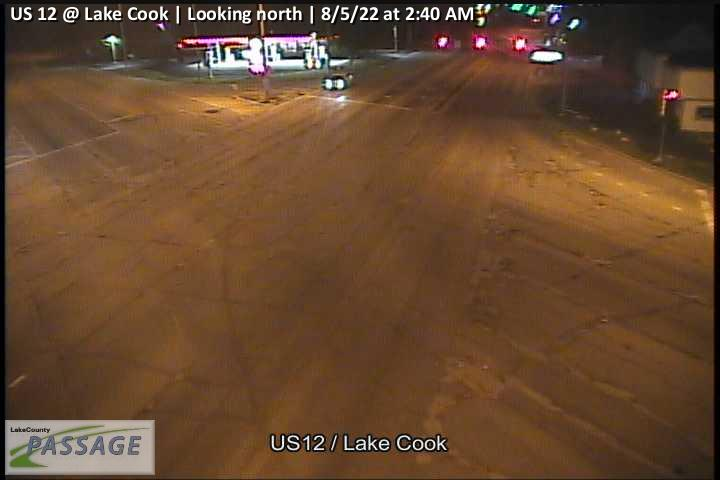 camera snapshot for US 12 at Lake Cook