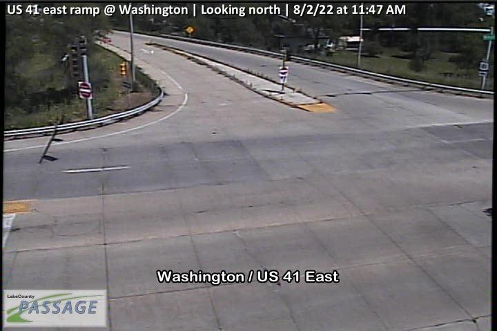 camera snapshot for US 41 east ramp at Washington