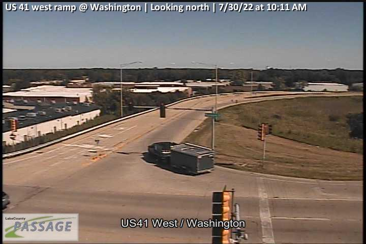 camera snapshot for US 41 west ramp at Washington