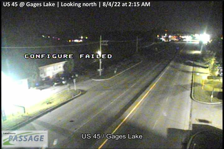 camera snapshot for US 45 at Gages Lake