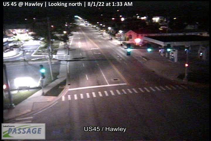 camera snapshot for US 45 at Hawley