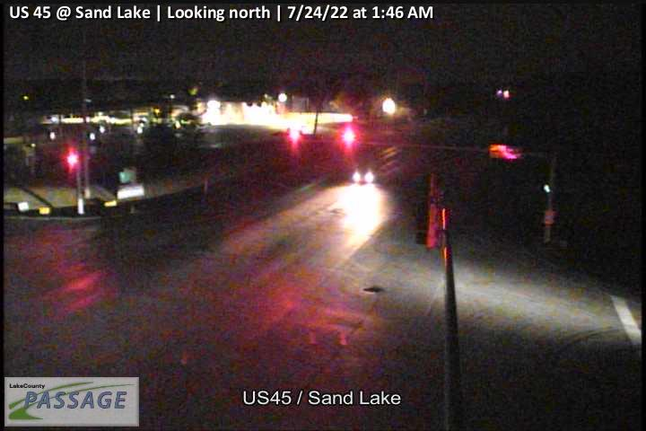 camera snapshot for US 45 at Sand Lake