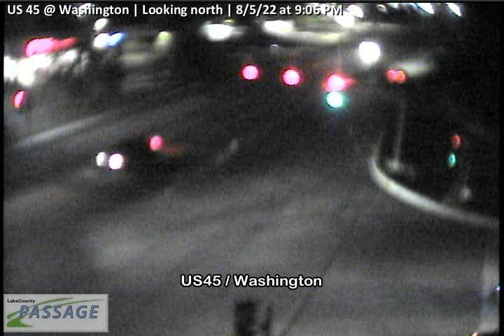 camera snapshot for US 45 at Washington